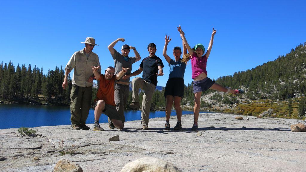 Trail family at Sally Keyes Lake