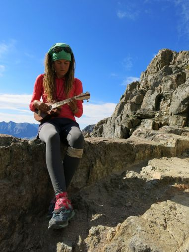 Playing my uke on Pinchot Pass