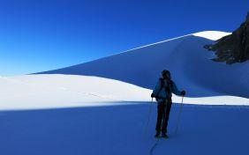 Shadows on the glacier