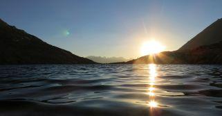 Sunset at Guitar Lake