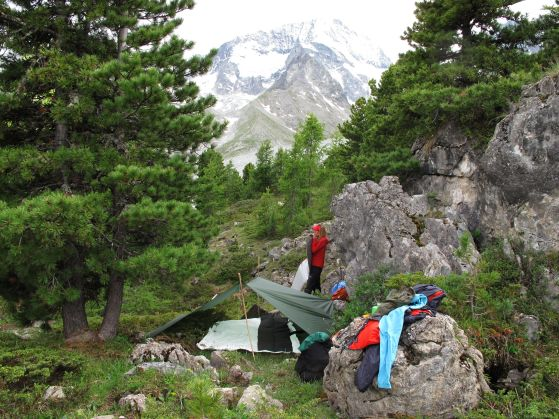Camp along the Haute Route