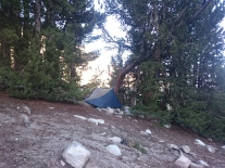 Camp at Silver Pass Lake 2
